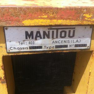 EMPILHADOR MANITOU DE RODA ALTA Á FRENTE