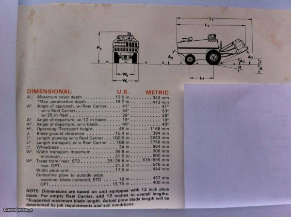 Máquina para abrir trincheiras Ditch witch 255 sx