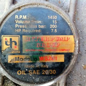 bomba de 200 bar de pressão Interpump model ws 201