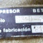 Compressor BÉTICO modelo S3-D-45 de 8M/3 de 7 bar
