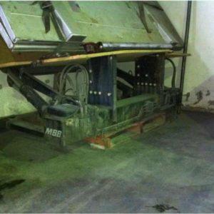MBB Palfinger 2000k taipal traseiro ou plataforma em aluminio