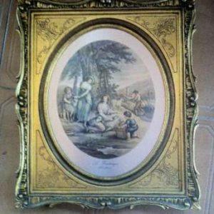 """Quadro intitulado """"Le Printemps"""" William Hamilton 1751-18O1"""