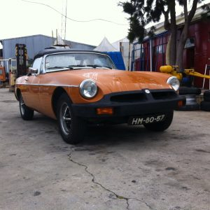 Clássico Descapotavel MG model MGB RUBBER-BUMPER