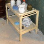 Mesa branca em madeira vintage