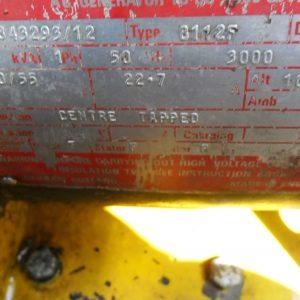 Gerador 1500rpm Motor Marcon rebocável